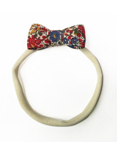 Pretty Wild Minnie Baby Bow Elastic Headband Liberty Print Pomegranate