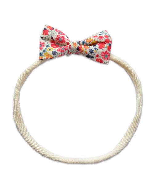 Pretty Wild Minnie Baby Bow Elastic Headband Phoebe Flowers (red)