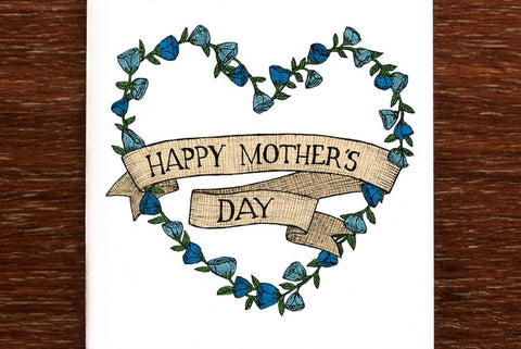 The Nonsense Maker Mother's Day Wreath Card