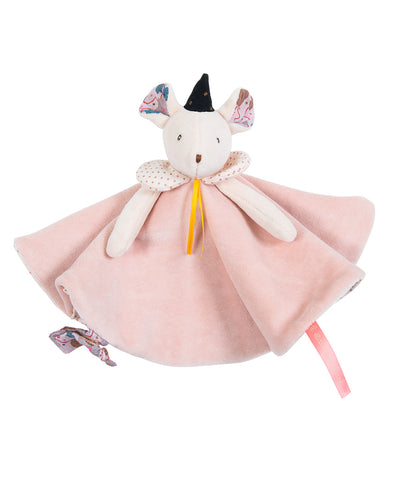 Moulin Roty Il Etait Pink Mouse Comforter
