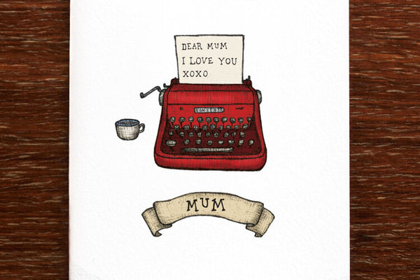 The Nonsense Maker Typewriter Mum Card