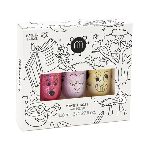 Nailmatic Kids Nail Polish Gift Box (3Pcs) Magic Forest