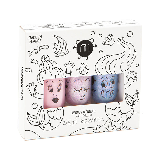 Nailmatic Kids Nail Polish Gift Box (3Pcs) Mermaid