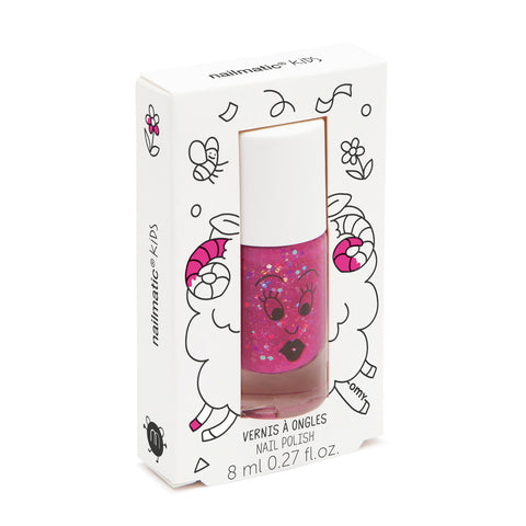 Nailmatic Kids Nail Polish: Glitter Raspberry