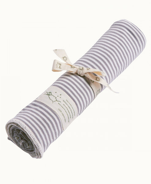 Nature Baby Cotton Wrap 100 x 100: Grey Stripe