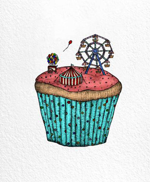 The Nonsense Maker Cupcake Carnival Card