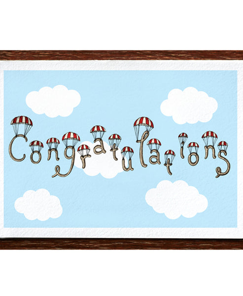 The Nonsense Maker Congratulations in the Clouds Card