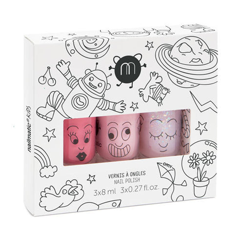 Nailmatic Kids Nail Polish Gift Box (3Pcs) Cosmos
