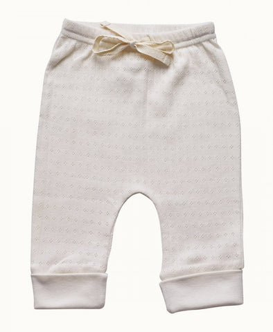 Nature Baby Drawstring Pants Pointelle