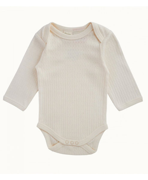 Nature Baby L/S Pointelle Bodysuit Natural