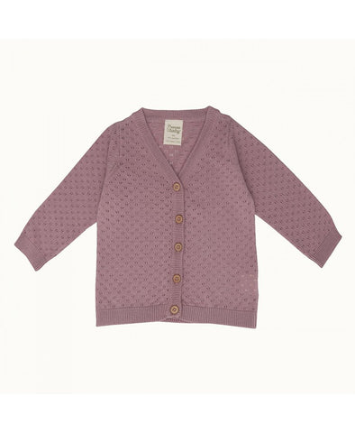 Nature Baby Light Cotton Knit Cardigan Pointelle