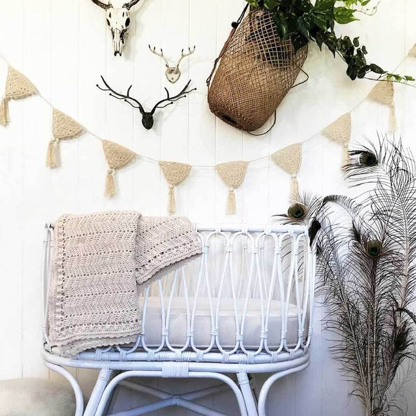 OB Designs Handmade Crochet Bunting - Natural