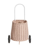 Olli Ella Luggy Wheel Basket Rose
