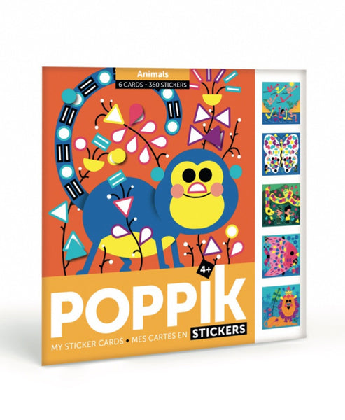 Poppik Stickers Travel Animals