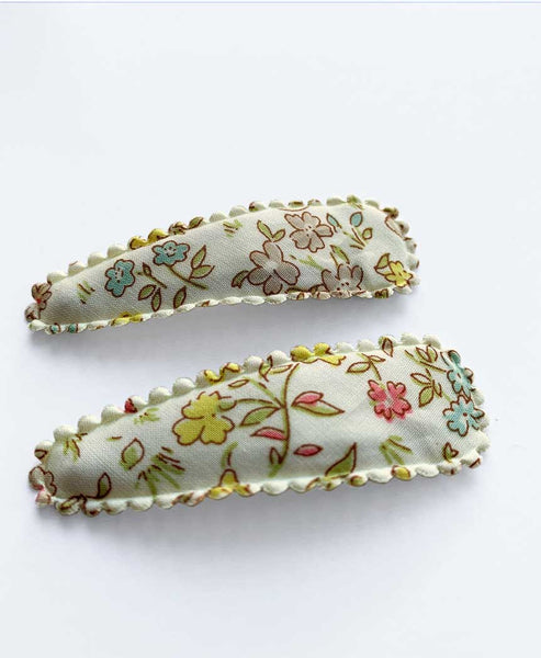 Pretty Wild Polly Twin Snap Clips Liberty Danish Floral