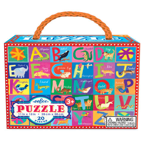 Eeboo 20 pce Puzzle Animal Alphabet