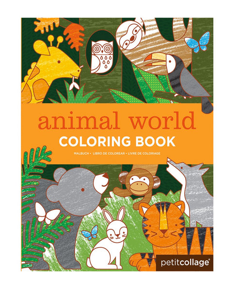 Petit Collage Animal World Colouring Book