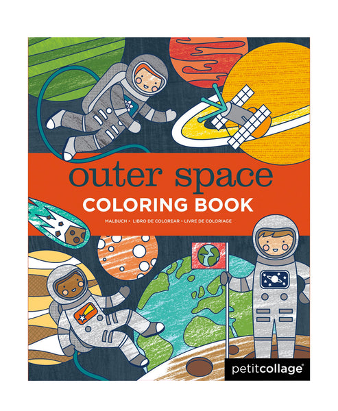 Petit Collage Outer Space Colouring Book