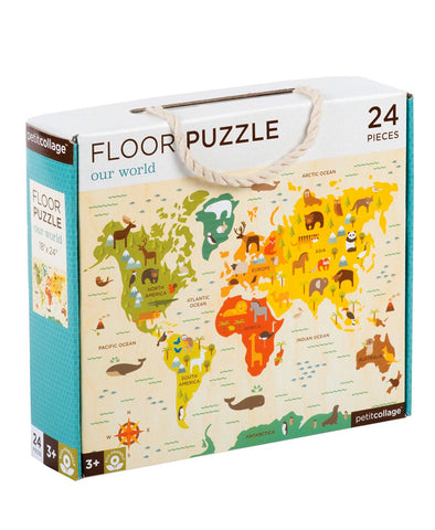 Petit Collage Floor Puzzle - Our World