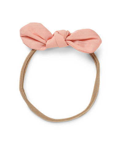 Pretty Wild Anna Bow Elastic Headband Peach