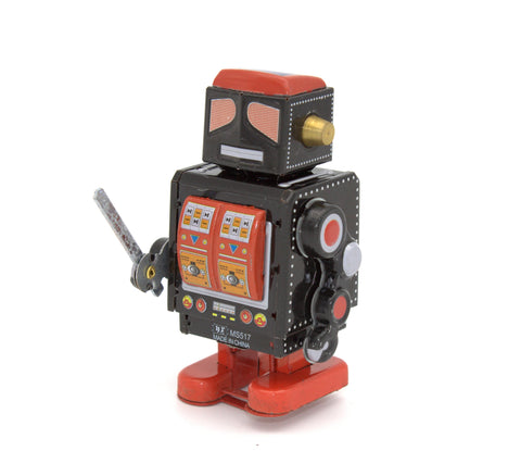 Horikawa Style Tin Wind Up Robot with Sword