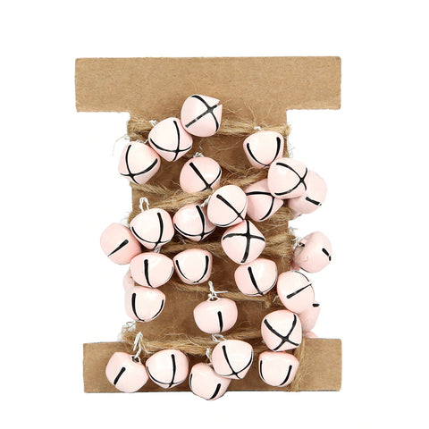 Delight Decor Bell Garland Pink