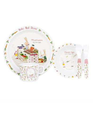 Ruby Red Shoes 5 Piece Melamine Kids France