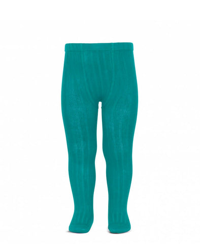 Condor Ribbed Tights (#463 Azul Capri)