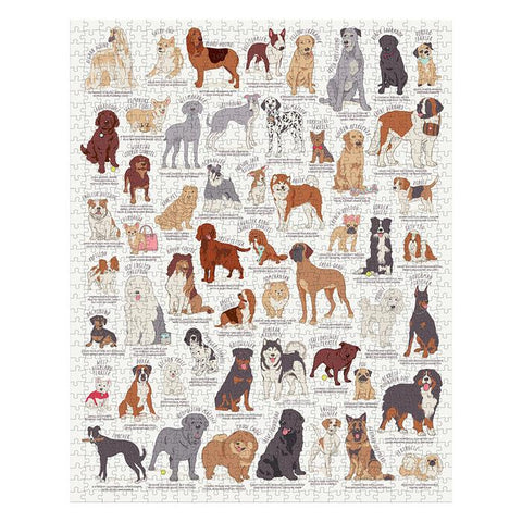 Ridley's Dog Lovers 1000pc Jigsaw White