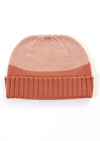 Uimi Two Tone Roxy Merino Beanie: Butterscotch