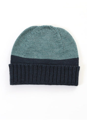 Uimi Two Tone Roxy Merino Beanie: Duck Egg