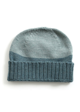 Uimi Two Tone Roxy Merino Beanie: Sea