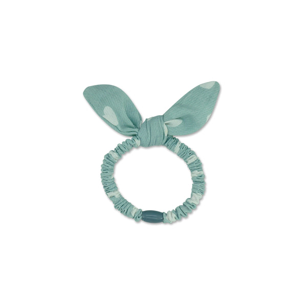 Milk x Soda Hair Elastic  with Bow - Blue Heart