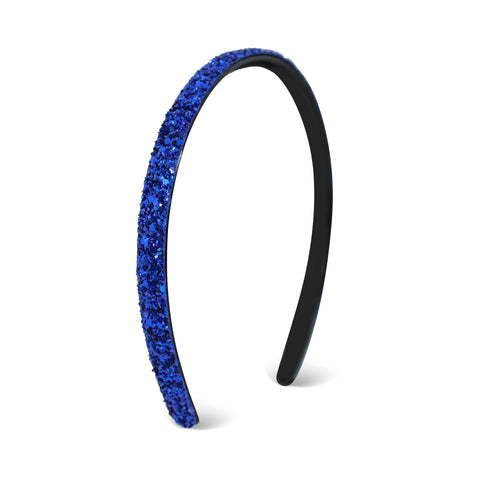 Milk x Soda Sparkle Thin Headband - Cobalt