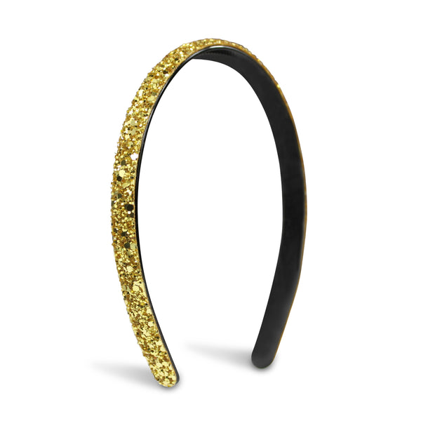 Milk x Soda Sparkle Thin Headband - Gold