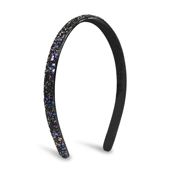 Milk x Soda Sparkle Thin Headband - Navy