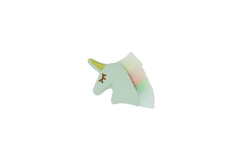 Minista Candie Fabric Puffy Unicorn Clip - Mint