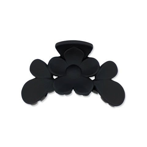 Milk x Soda Flower Claw Clip - Black