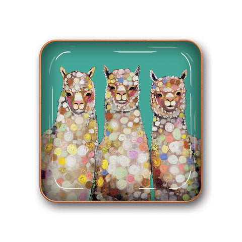 Studio Oh Alpaca Catchall Metal Tray