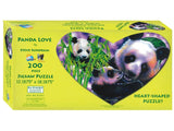Sunsout Panda Love Heart Shaped Puzzle 200 Pieces