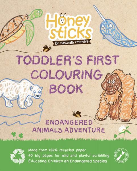 Honeysticks Colouring Book Endangered Species