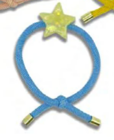 Minista Marble Hair Tie Yellow 2 Pack - Star