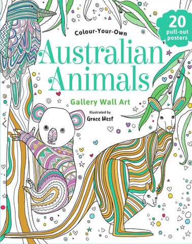 Colour Your Own Australian Animals Gallery Wall Art