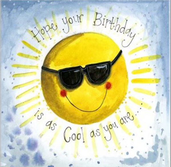 Alex Clark Art Summer Sunshine Birthday Card