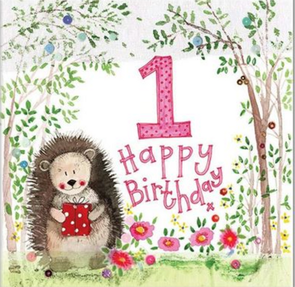 Alex Clark Art Sparkle 1 Year Old First Birthday Card