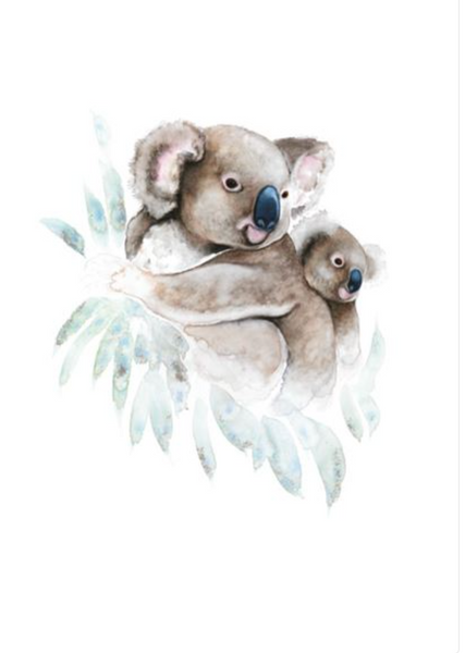 Nadine Dudek - Along for the Ride Koala and Baby Card