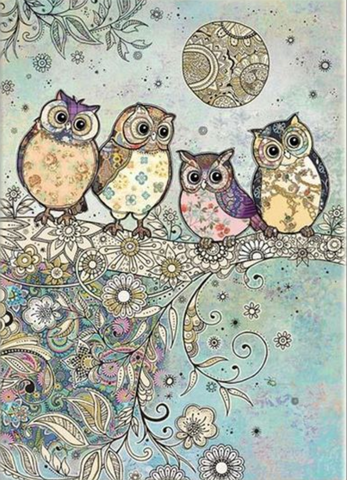 Bug Art Four Owls Card