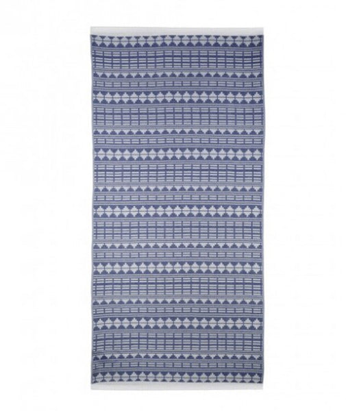Sea You Soon Serranilla Jacquard Beach Towel Navy