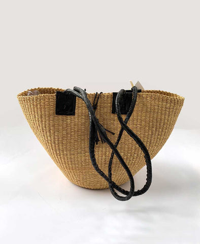 Inside Africa Genuine Hand Woven Shoulder Bag Natural