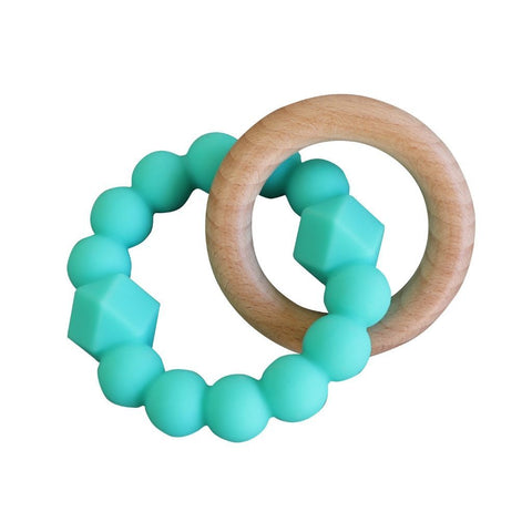 Jellystone Silicone Moon Teether Mint